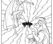 Coloring pages Megamind and Metro Man to color