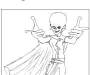 Coloring pages Megamind in pencil