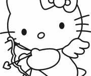 Coloring pages Angel Hello Kitty for free