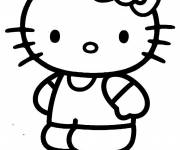 Coloring pages Hello Kitty easy