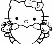 Coloring pages Hello Kitty kitty easy