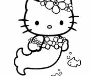 Coloring pages Hello kitty mermaid online