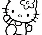 Coloring pages Hello Kitty on the train
