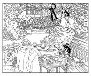 Coloring pages Adult Fall Landscape