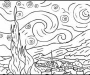 Free coloring and drawings Delaunay color Coloring page