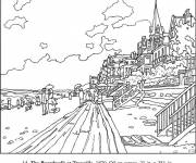 Free coloring and drawings French Monet painter Coloring page