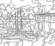 Free coloring and drawings Maternal monet Coloring page
