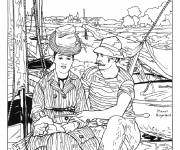 Free coloring and drawings Monet Chart online Coloring page