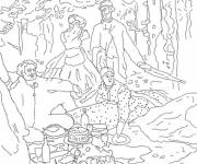 Coloring pages Monet in black and white