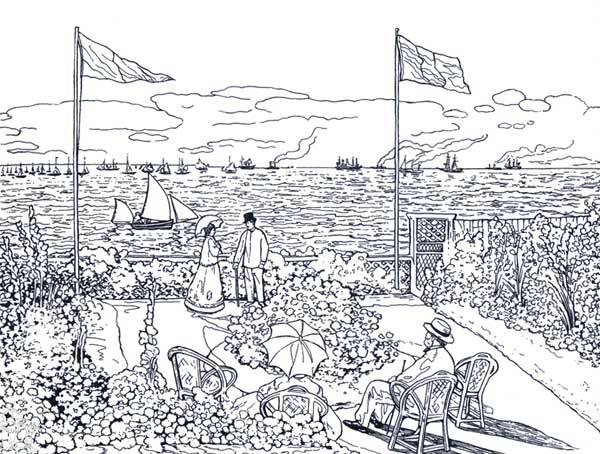 Free coloring and drawings Monet painting to print Coloring page