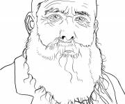 Free coloring and drawings Monet's picture Coloring page
