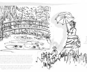 Free coloring and drawings Monet The Book Coloring page