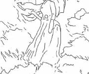 Free coloring and drawings Monet The Walk Coloring page