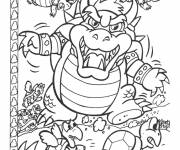 Coloring pages Nintendo Bowser