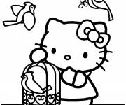 Coloring pages Nintendo Hello Kitty