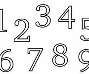 Coloring pages Numbers from 1 to 10