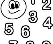Coloring pages Stylised magic numbers