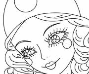 Coloring pages Portrait of a beautiful girl