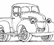 Coloring pages A smiling van