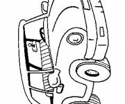 Coloring pages children's car drawing
