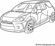 Free coloring and drawings Citroen Rally Car Coloring page