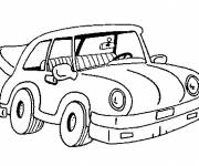 Free coloring and drawings Color car Coloring page