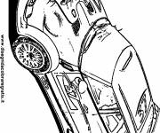 Free coloring and drawings Color Rally Car Coloring page