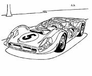 Free coloring and drawings F1 racing Ferrari Coloring page