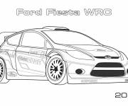 Free coloring and drawings Ford Fiesta Rally Coloring page