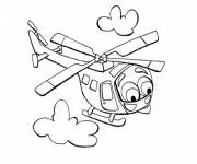 Free coloring and drawings Magic helicopter Coloring page