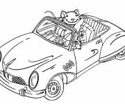 Free coloring and drawings Mouse Car Coloring page