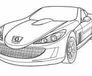 Free coloring and drawings Peugeot Luxury Car Coloring page