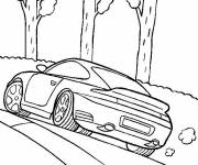 Free coloring and drawings Porsche 991 Turbo coupe Coloring page