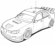 Free coloring and drawings WRC Rally Car Coloring page