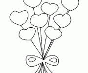 Coloring pages Bouquet of Heart