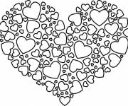 Coloring pages Magnificent love heart