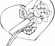 Coloring pages Rose and Love