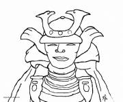 Coloring pages Samurai mask