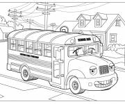 Coloring pages A school bus