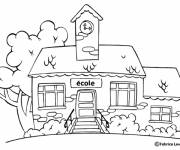 Free coloring and drawings Coloring school Coloring page