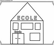 Free coloring and drawings Easy school Coloring page