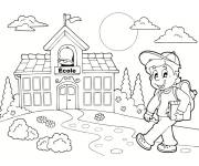 Free coloring and drawings School Back to school Coloring page