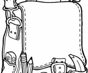 Free coloring and drawings School bag Coloring page