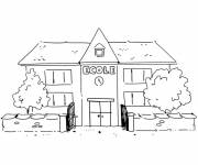 Free coloring and drawings school building Coloring page