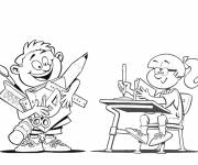 Free coloring and drawings School for children Coloring page