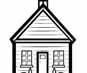 Free coloring and drawings School in vector Coloring page