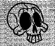 Coloring pages Funny skull