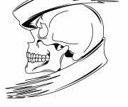 Coloring pages Magic skull