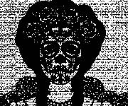 Coloring pages Mexican skull