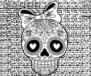 Coloring pages Mexican skull online